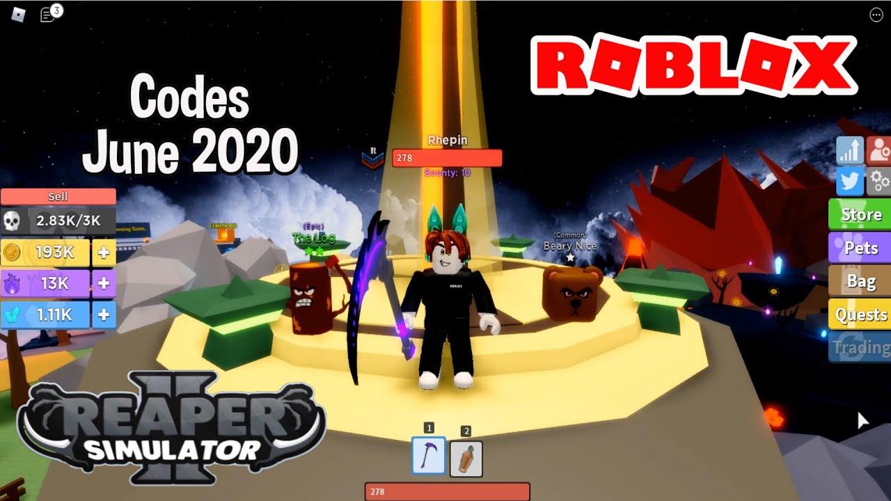 Reaper Simulator Codes 2020 June