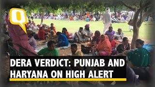 Ram rahim followers block convoy hours ahead of the verdict in panchkula