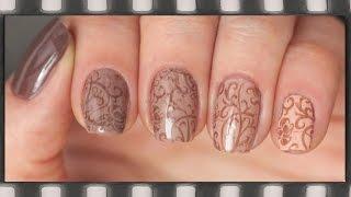видео Коричневый маникюр и лак для ногтей в шоколадных тонах