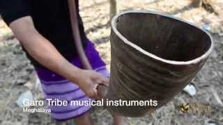 Garo tribe ethnic musical instruments in Meghalaya, India.