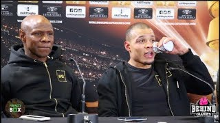 "[HD] ""GEORGE GROVES IS THE BIGGEST PUNCHER I'VE FACED!"" EUBANK JR. POST FIGHT PRESS CONFERENCE"