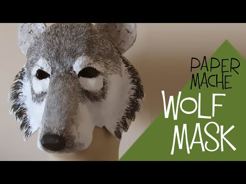 how to make a wolf mask with paper