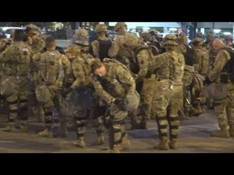 National Guard on the streets of Atlanta on night 6 of demonstrations