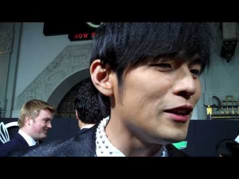 """Jay Chou at the """"Green Hornet"""" premiere"""