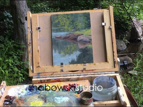 "Plein air oil demo-""Symphony in Gray"""