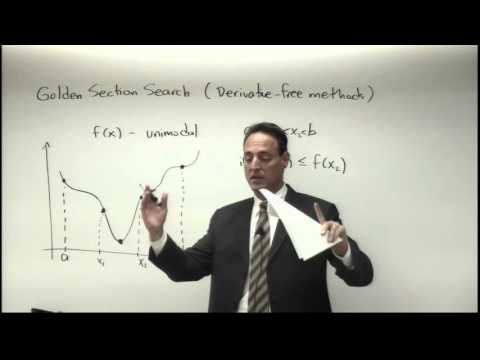 Lecture: Unconstrained Optimization (Derivative-Free Methods