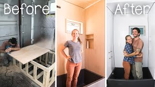 DIY Plywood Shower Cabin 🛁 for our Shipping Container House #083