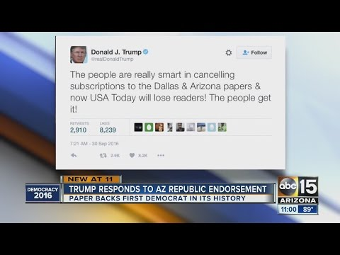 Trump responds to AZ Republic endorsement