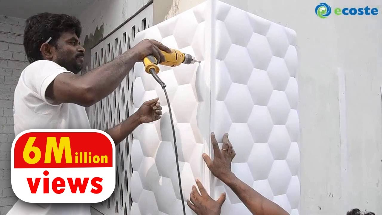 3d Wallpaper For Bedroom Wall India Ecoste Clad Ex 3d Wall Panels Installation Youtube