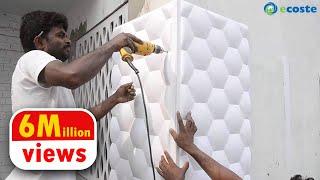 Ecoste CLAD-EX 3D Wall Panels Installation.