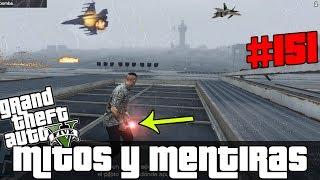 GTA V - Mitos y Mentiras #151   ¿Qué pasa si lanzas un ataque aéreo dentro de la base militar?