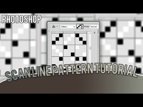How To: Make Your Own Scanline Pattern | Photoshop