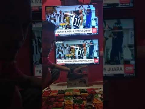 Perbandingan ukuran layar tv led 32 dan 43 inci Polytron LG Samsung Sony