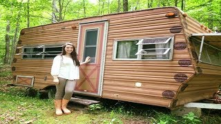 14-Year-Old Transformed the Interior of a 1974 Camper for Only $200 and It Looks Incredible