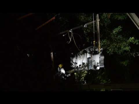Avista Utilities fixing a Transformer in the middle of the night after an outage