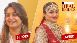 Indian Bridal Makeup Transformation | Traditional Wedding Look | Real Bride Makeover | Be Beautiful