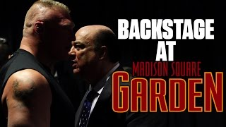 EXCLUSIVE! Brock Lesnar and Paul Heyman Backstage at Madison Square Garden! FULL VIDEO!