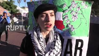 USA: Dozens gather in San Francisco to demand 'No War with Iran'