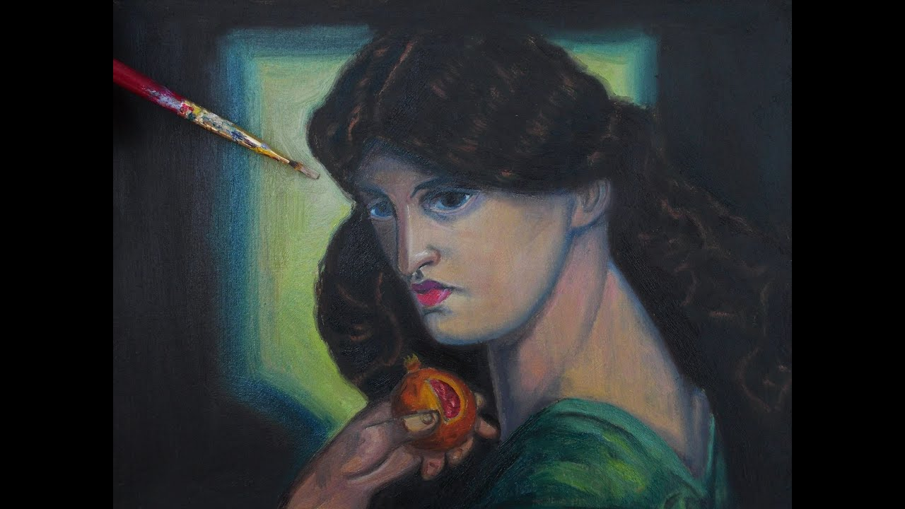 Underpainting and first glaze of rossetti 39 s proserpine in for Rossetti vernici e idee