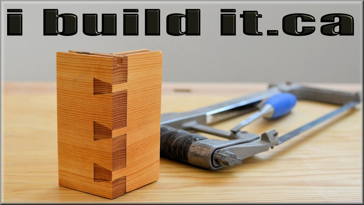 Hand-cut Dovetail With Hacksaw And Chisel