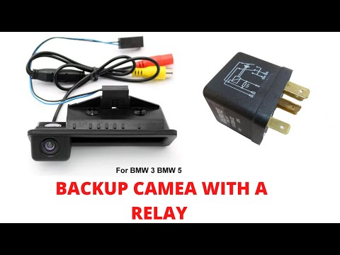 backup reversing camera installation with relay youtube rh youtube com