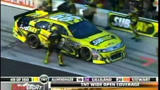 dave blaney carl edwards pukes in car into the wall the coke 400 sprint cup race daytona 2011 mpg
