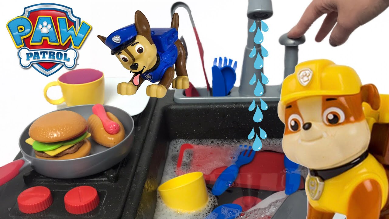 Paw Patrol Kitchen Stovetop Playset Cooking Dinner For Kids Toys Youtube