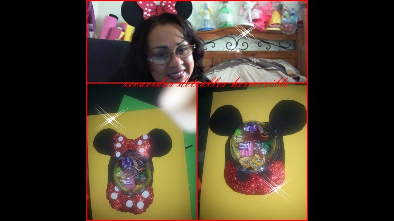 Diy como hacer un dulcero de mickey y minnie mouse youtube - Manualidades minnie mouse ...