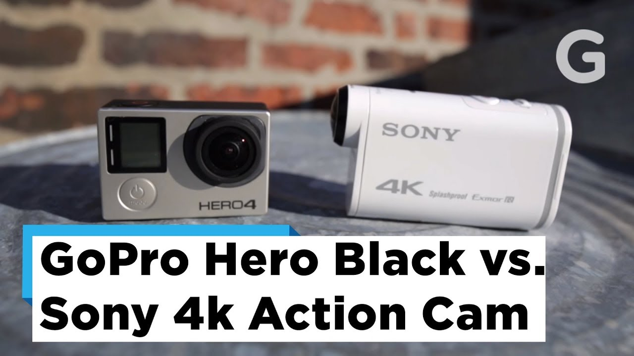 test footage gopro hero 4 black vs sony 4k action cam