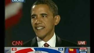 CNN live: President Obama Victory Speech 1/4