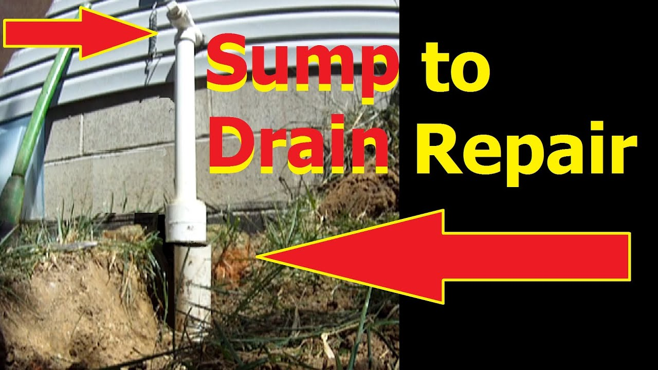 Sump Pump Discharge To Drain Repair Downspout Drain Diy