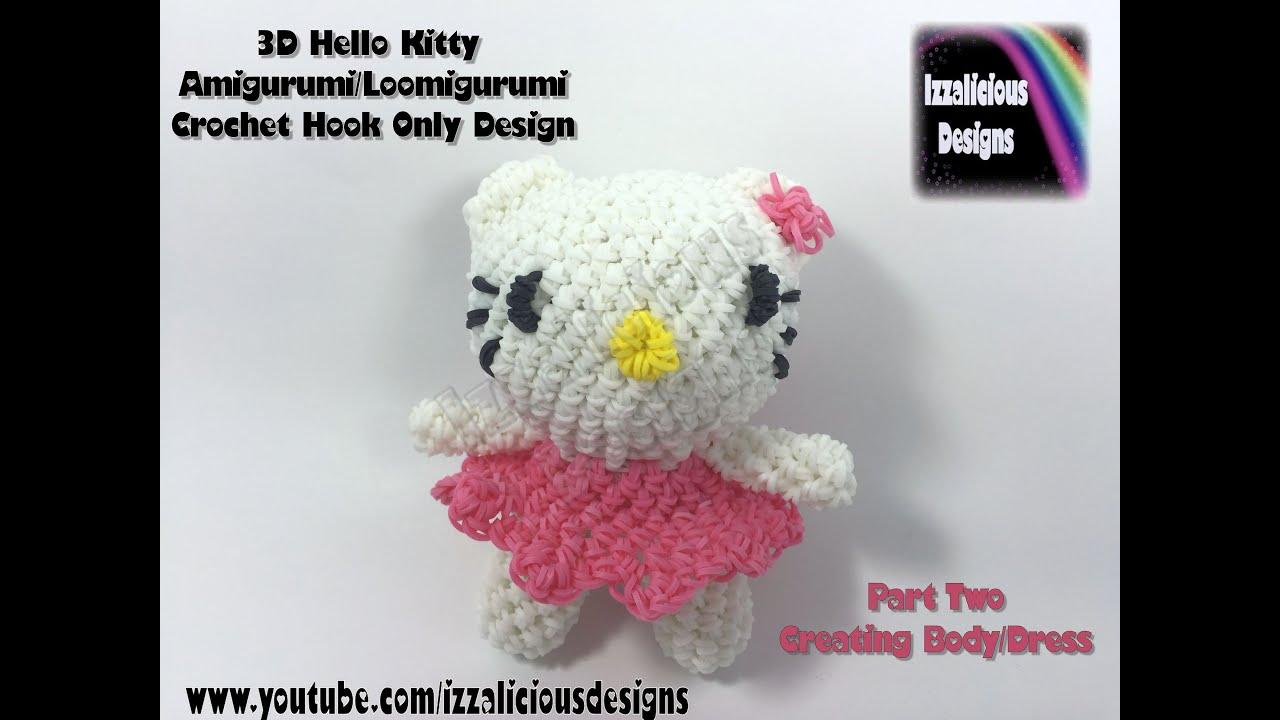 Tsum Tsum Amigurumi Pattern Free : Rainbow loom d hello kitty amigurumi loomigurumi body part two
