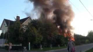 Два пожара - настоящий и тренировочный - в Красногорске(, 2014-12-25T19:51:49.000Z)