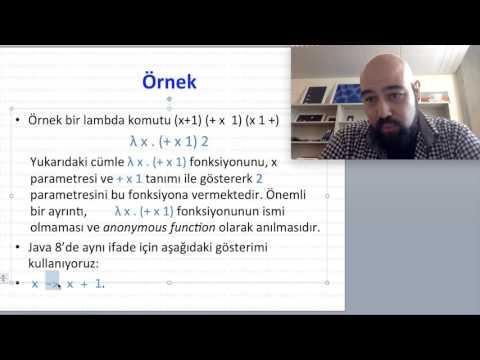 Lambda Calculus ve Fonksiyonel Programlama (Java Eğitim 8) Part 1/2