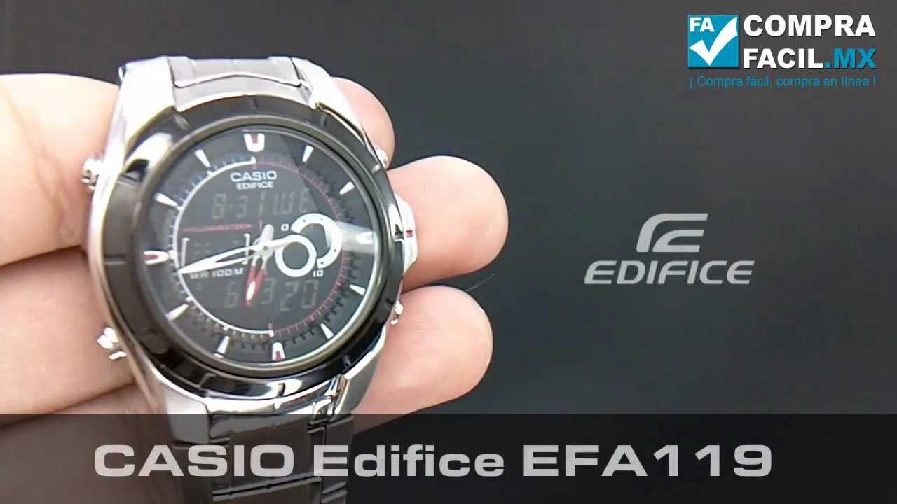 reloj casio edifice efa 119 comprafacil mx youtube rh youtube com Reloj Diesel Casio Relog