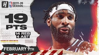 Andre Drummond CAVALIERS DEBUT 19 Pts 14 Reb Full Highlights vs Clippers | February 9, 2020