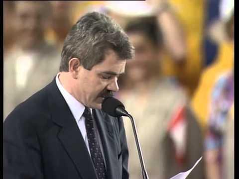 Discurs de Pasqual Maragall a la inauguració dels Jocs Olímpics de Barcelona 1992