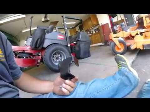 Change Blades on Mower  Toro Titan ZX4800