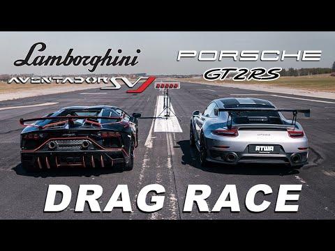 Lamborghini Aventador SVJ vs Porsche GT2 RS | DRAG RACE | Daniel Abt