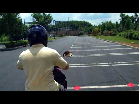 Video of what to expect at the NJ DMV MVC for the motorcycle road test. scooterrentalnj.com