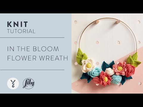 How To Knit a Decorative Flower Wreath | Easy Knitting Pattern