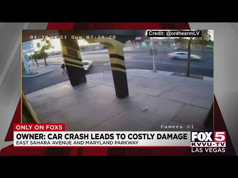 Business owner says Las Vegas crash caused costly damage