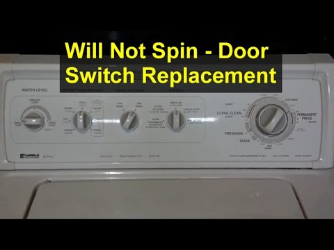 my washer machine will not spin