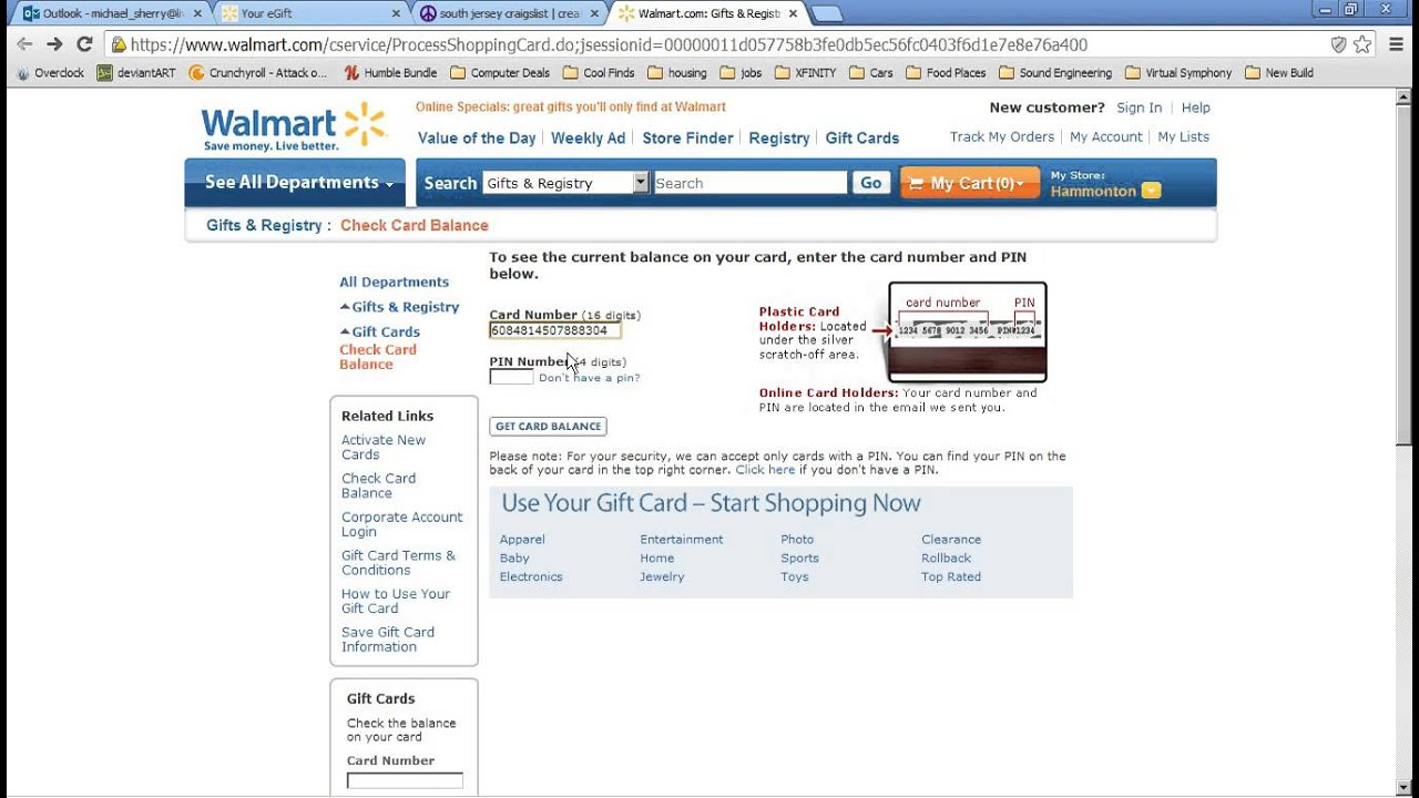 Walmart eGift Card - YouTube
