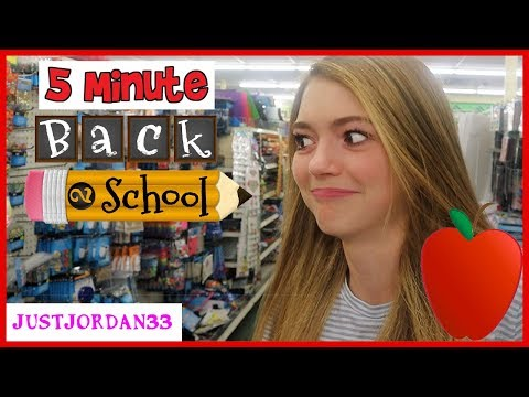 5 MiNUTE Dollar Store BACK TO SCHOOL Challenge / JustJordan33