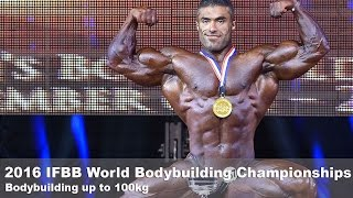 2016 ifbb world championships bodybuilding up to 100kg