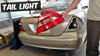 MERCEDES W211 TAIL LIGHT REMOVAL REPLACEMENT