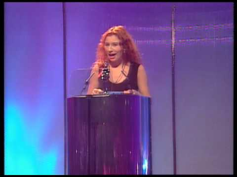 Gabrielle wins British Newcomer presented by Tori Amos | BRIT Awards 1994