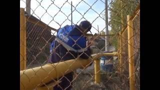 Запуск новой ветки газа в Вишневогорске.
