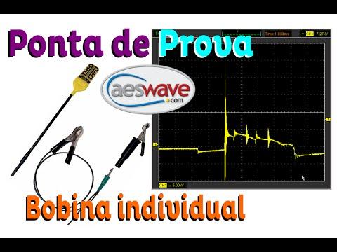 Teste De Funcionamento - Ponta De Prova AESwave Com Osciloscópio Hantek